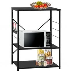 stradeXL Microwave Cabinet Black 60x39.6x79.5 cm Chipboard