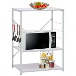 stradeXL Microwave Cabinet White 60x39.6x79.5 cm Chipboard