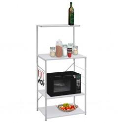 stradeXL Microwave Cabinet White 60x39.6x123 cm Chipboard