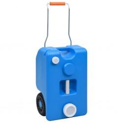 stradeXL Turystyczny pojemnik na wodę, na kółkach, 25 L, niebieski