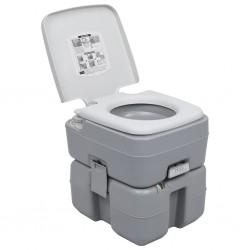 stradeXL Przenośna toaleta turystyczna, szara, 20+10 L