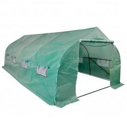 stradeXL Portable Polytunnel Greenhouse Steel Frame Walk-in 18 m²