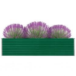 stradeXL Donica do podniesionej grządki, 320 x 40 x 77 cm, stal, zielona