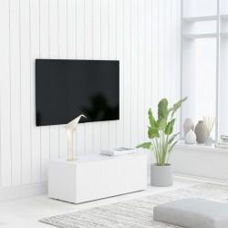 stradeXL Szafka pod telewizor, biała, 80x34x30 cm, płyta wiórowa