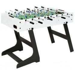 stradeXL Składany stół do piłkarzyków, 121 x 61 x 80 cm, biały