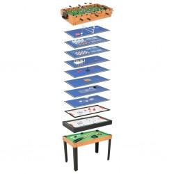 stradeXL Stół do gier 15-w-1, 121x61x82 cm, klon