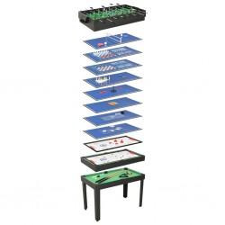 stradeXL Stół do gier 15-w-1, 121x61x82 cm, czarny