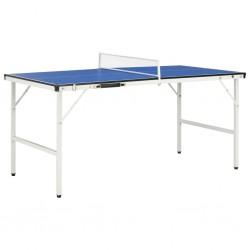 stradeXL Stół do tenisa z siatką, 5 stóp, 152 x 76 x 66 cm, niebieski