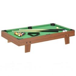stradeXL Mini stół bilardowy na 3 nogach, 92x52x19 cm, brązowo-zielony