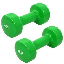 stradeXL Hantle, 2 szt., 8 kg, żeliwo, zielone