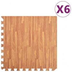 stradeXL Maty podłogowe, 6 szt., wzór drewna, 2,16 ㎡, pianka EVA