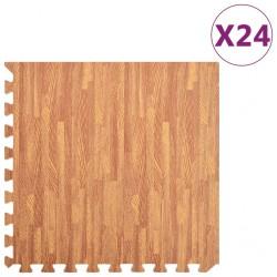 stradeXL Maty podłogowe, 24 szt, wzór drewna, 8,64 ㎡, pianka EVA