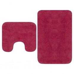 stradeXL 2-częściowy zestaw mat łazienkowych, tkanina, fuksja