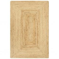 stradeXL Ręcznie wykonany dywan, juta, naturalny, 120x180 cm