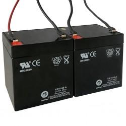 stradeXL Akumulatory do hulajnóg elektrycznych, 2 szt., 12 V, 4,5Ah