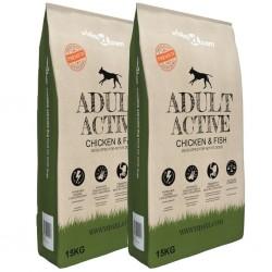 stradeXL Sucha karma dla psów Adult Active Chicken & Fish, 2 szt., 30 kg