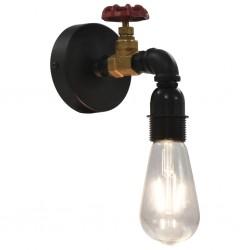 stradeXL Lampa ścienna w formie kranu, czarna, E27