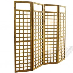 stradeXL Parawan pokojowy 4-panelowy/trejaż, drewno akacjowe, 160x170 cm
