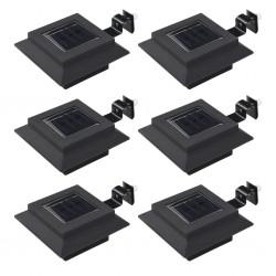stradeXL Outdoor Solar Lamps 6 pcs LED Square 12 cm Black