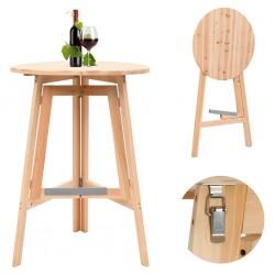 stradeXL Składany stolik barowy, 78 cm, drewno jodłowe