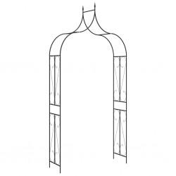 stradeXL Pergola ogrodowa, czarna, 120x38x258 cm, żelazna