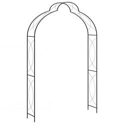 stradeXL Garden Arch Black 150x34x240 cm Iron
