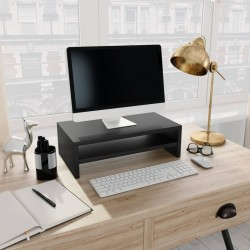stradeXL Podstawka pod monitor, czarna, 42x24x13 cm