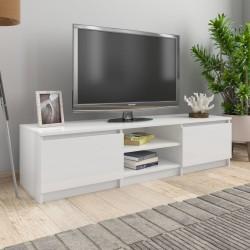 stradeXL Szafka pod TV, wysoki połysk, biała, 140x40x35,5 cm