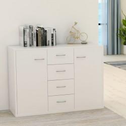stradeXL Szafka, biała, 88 x 30 x 65 cm, płyta wiórowa
