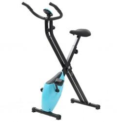 stradeXL Magnetyczny rower X-bike z pomiarem tętna, czarno-niebieski