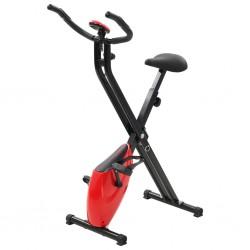 stradeXL Magnetyczny rower X-bike z pomiarem tętna, czarno-czerwony