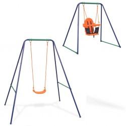 stradeXL 2-in-1 Single Swing and Toddler Swing Orange