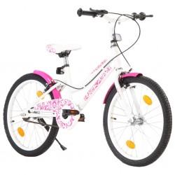 stradeXL Rower dla dzieci, 20 cali, różowo-biały