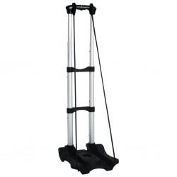 stradeXL Składany wózek transportowy, 45 kg, aluminiowy, srebrny