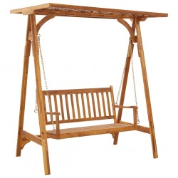 stradeXL Garden Swing Bench with Trellis Solid Acacia Wood
