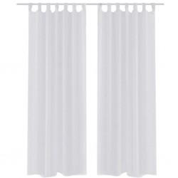 Zasłona na szelkach, biała, 140 x 245 cm, 2 sztuki