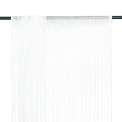 stradeXL Zasłony sznurkowe, 2 sztuki, 100 x 250 cm, białe