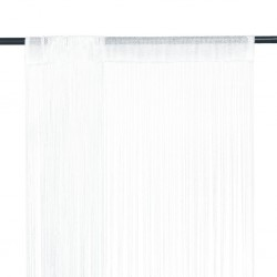 stradeXL Zasłony sznurkowe, 2 sztuki, 140 x 250 cm, białe