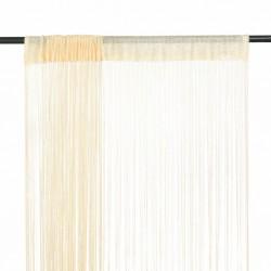 stradeXL Zasłony sznurkowe, 2 sztuki, 140 x 250 cm, kremowe