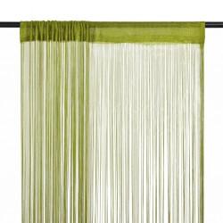 stradeXL Zasłony sznurkowe, 2 sztuki, 100 x 250 cm, zielone