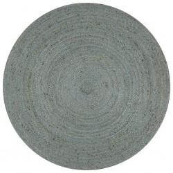 stradeXL Ręcznie wykonany dywan z juty, okrągły, 120 cm, oliwkowozielony