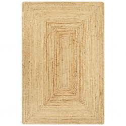 stradeXL Ręcznie wykonany dywan, juta, naturalny, 80x160 cm