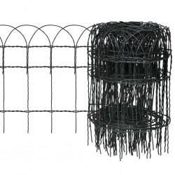stradeXL Obrzeże ogrodowe, malowane proszkowo żelazo, 10x0,4 m