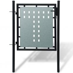 Pojedyncza furtka ogrodzeniowa 100 x 125 cm, czarna