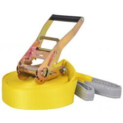 stradeXL Taśma do slackliningu, 15 m x 50 mm, 150 kg, żółta
