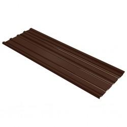 stradeXL Panele dachowe ze stali galwanizowanej, 12 szt., brązowe
