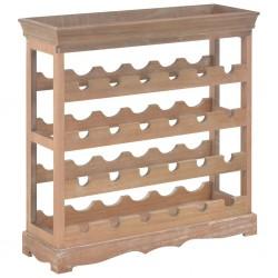 stradeXL Szafka na wino, brązowa, 70x22,5x70,5 cm, MDF