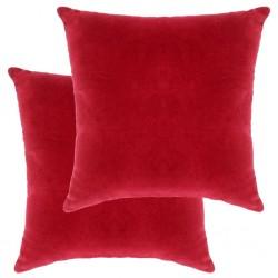 stradeXL Poduszki, 2 szt., aksamit bawełniany, 45 x 45 cm, czerwone