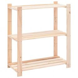 stradeXL Regał z 3 półkami, 80x38x90 cm, lita sosna, 150 kg
