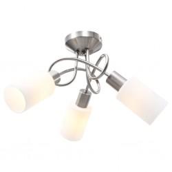 stradeXL Lampa sufitowa z ceramicznymi kloszami na 3 żarówki E14